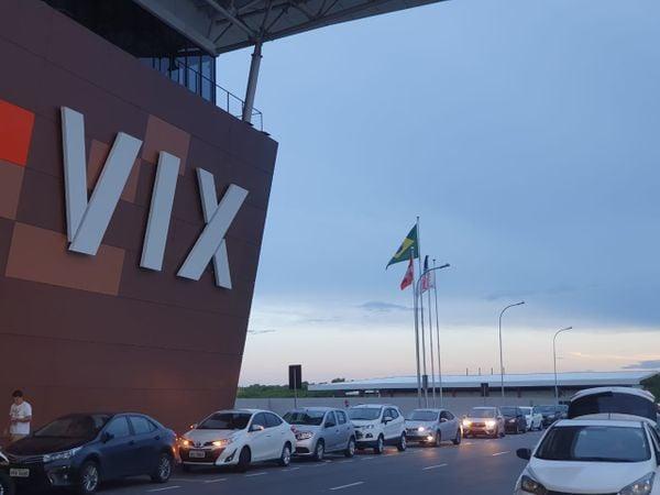Aeroporto de Vitória funciona normalmente, apesar da apreensão dos passageiros. Crédito: Alberto Borém