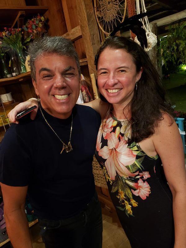 Carnaval no Quadrado de São Paulinho: Ivan Aguilar e Cecília Cunha. Crédito: Mônica Zorzanelli