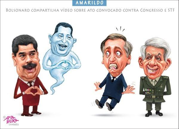Confira a charge do Amarildo de 27/02/2020. Crédito: Amarildo