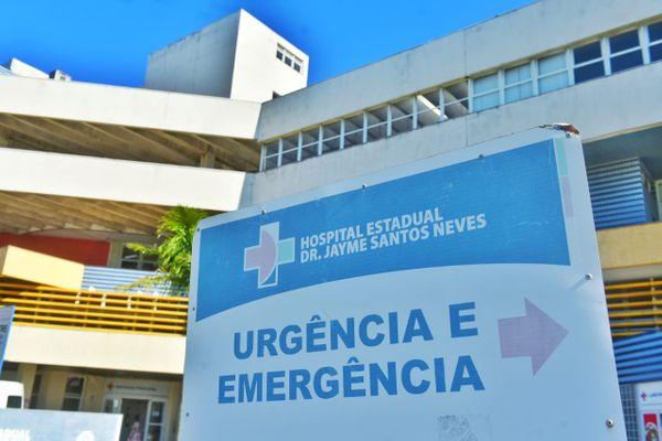 Hospital Estadual Dr. Jayme Santos Neves, para onde o paciente está internado. Crédito: Fernando Madeira