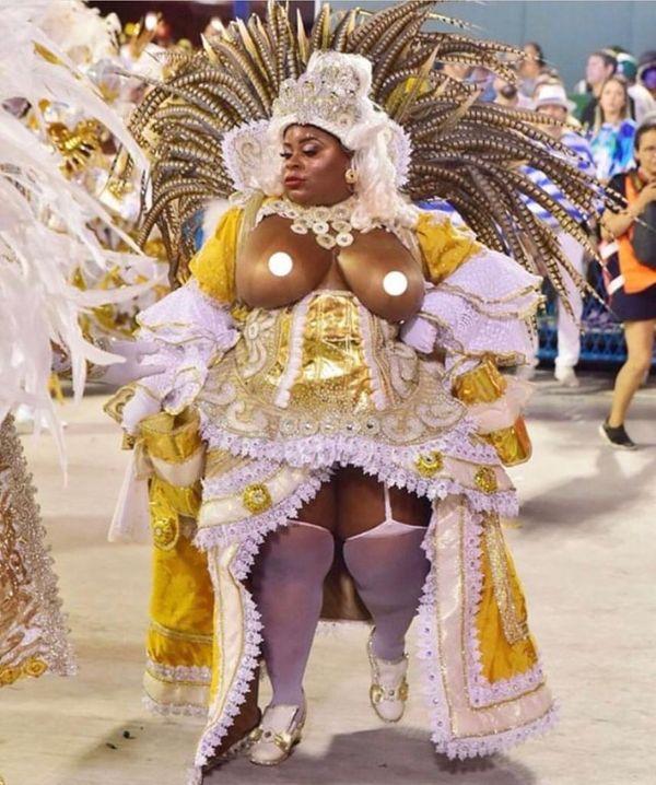 Jojo Todynho desfilou pela Beija Flor, no Rio, e foi uma das poucas mulheres gordas que saíram de destaquel. Crédito: Divulgação