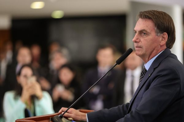 O presidente enviou pelo menos dois vídeos convocando a população a sair às ruas, no dia 15 de março. Crédito: Marcos Corrêa/PR