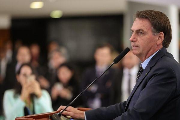 Presidente Jair Bolsonaro tem minimizado as turbulências na economia. Crédito: Marcos Corrêa/PR