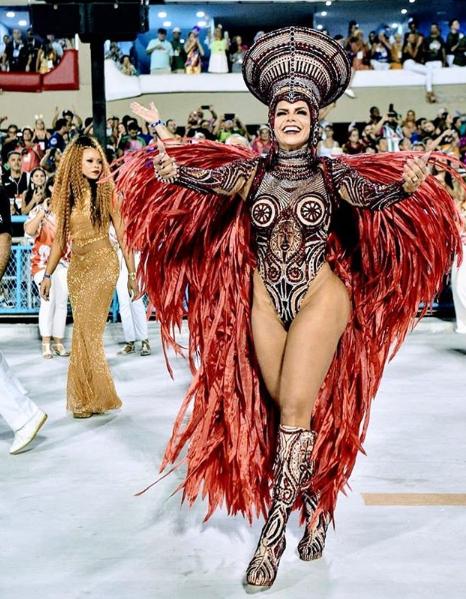 Raissa Machado, rainha de bateria da Viradouro, escola campeã do Carnaval do Rio em 2020. Crédito: Instagram