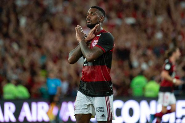 Gerson fez os gols que sacramentaram a vitória do Flamengo sobre o Independiente del Valle. Crédito: Marcelo Cortes/Flamengo