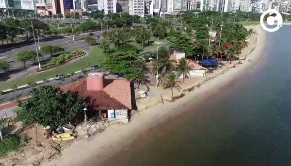 Imagens aéreas feitas por drone na Curva da Jurema, em Vitória. Crédito: Reprodução