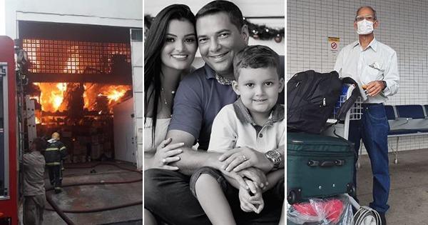 Incêndio no Carone, Cabo Porto morre com família em acidente e suspeita de coronavírus no ES: um resumo do que aconteceu durante o carnaval. Crédito: Montagem