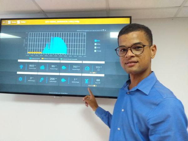Para o engenheiro eletricista Pablo Rodrigues, a instalação de novas placas na Serra vai triplicar a capacidade de geração de energia limpa no Estado. Crédito: Divulgação