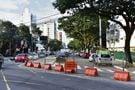 O antigo acesso à Avenida Rio Branco pela Leitão da Silva está bloqueado há quase dois anos. Crédito: Fernando Madeira