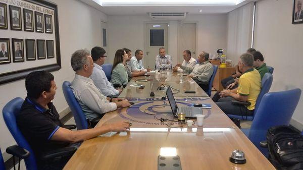Reunião da Frente Unificada formada por representes de entidades da segurança pública. Crédito: Divulgação