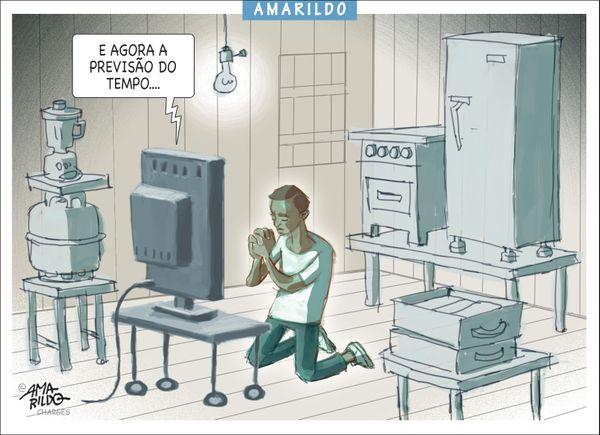 Confira a charge do Amarildo de 03/03/2020. Crédito: Amarildo