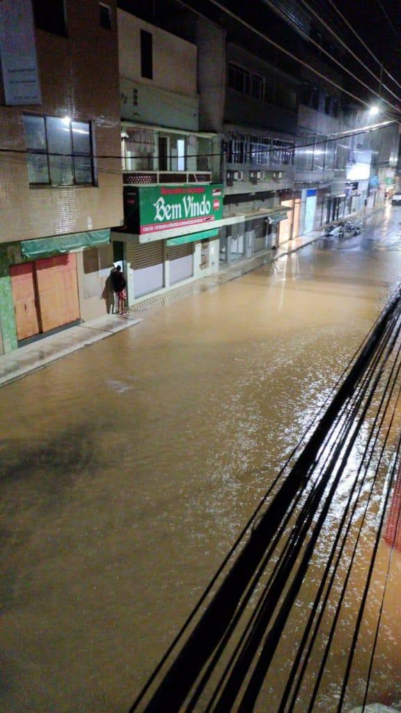 Efeitos da chuva em Iconha. Crédito: Internauta