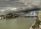 Céu fechado antes das fortes chuvas que atingiram a Região Metropolitana de Vitória neste domingo (1). Crédito: Reprodução | Portos ES