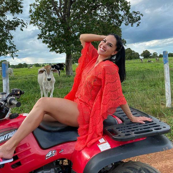 A jornalista e modelo Graciele Lacerda. Crédito: Reprodução/Instagram @gracielelacerdaoficial