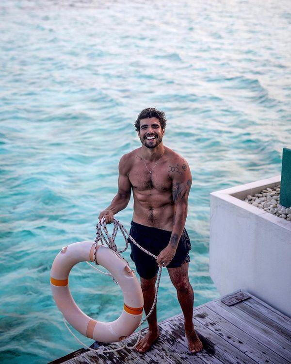 O ator Caio Castro em viagem às Maldivas. Crédito: Gabriel Felix Photography