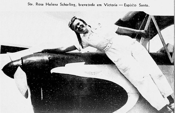 Rosa herdou do pai a paixão por voar. Crédito: Reprodução Arquivo Pessoal/Gildo Loiola