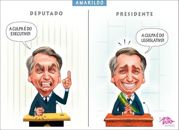 Confira a charge do Amarildo de _/03/2020. Crédito: Amarildo