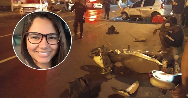 Universitária morre em acidente em Vila Velha. Crédito: Internauta