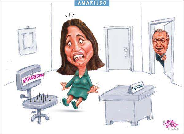 Confira a charge do Amarildo de 09/03/2020. Crédito: Amarildo