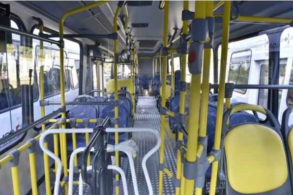 Interior de ônibus do Transcol