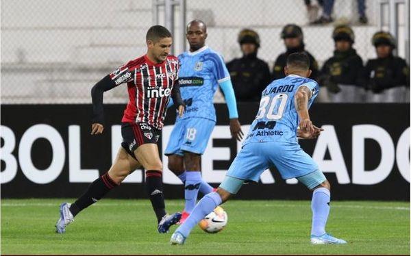 O São Paulo perdeu para o Binacional, do Peru. Crédito: Rubens Chiri/São Paulo