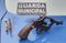 Revólver e cápsulas foram apreendidos com um homem de 24 anos, durante um tiroteio no bairro Santa Rita, em Vila Velha. Crédito: Divulgação | Guarda Municipal de Vila Velha