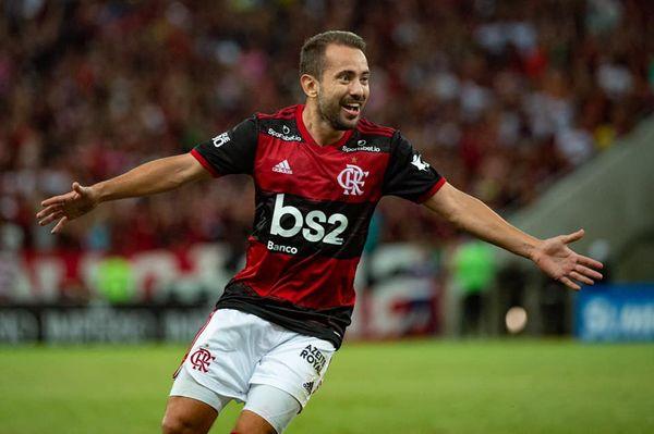Everton Ribeiro marcou um dos gols da partida. Crédito: Alexandre Vidal / Flamengo
