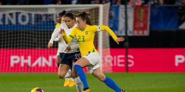 Seleção Feminina: Brasil perde para a França por 1x0 na segunda rodada. Crédito: A2M/CBF