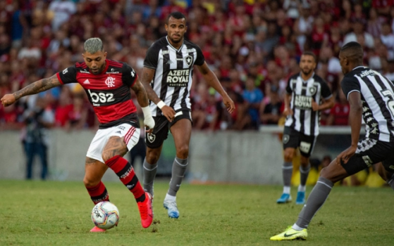Gabigol durante o jogo do Flamengo contra o Botafogo pelo Campeonato Carioca 2020
