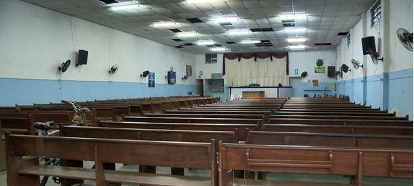 Igreja onde a confusão aconteceu fica na Avenida Carlos Lindenberg. Crédito: Reprodução/TV Gazeta