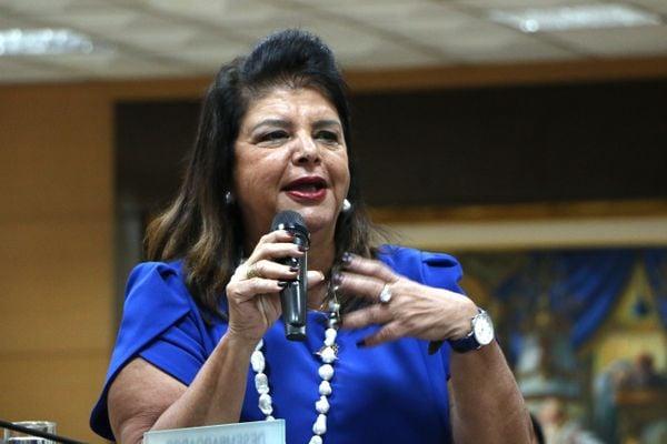 Luiza Trajano participou da abertura da 16ª Semana Justiça pela Paz em Casa. Crédito: Assessoria de Comunicação do TJES/Divulgação