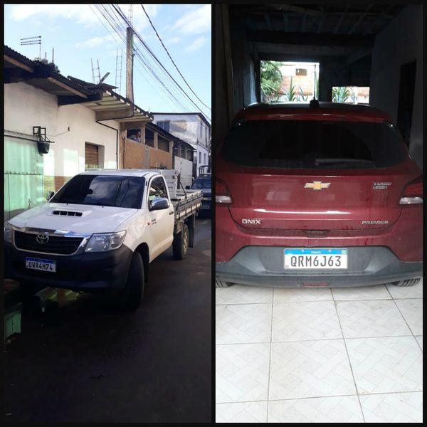 Carros utilizados por Thiago estavam em nome de familiares da companheira. Crédito: Reprodução