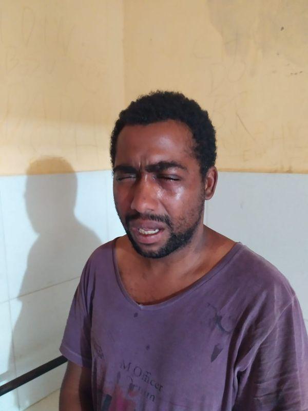 O suspeito de cometer o crime foi preso pela Polícia Militar logo depois do homicídio. O nome dele não foi divulgado. Crédito: Reprodução