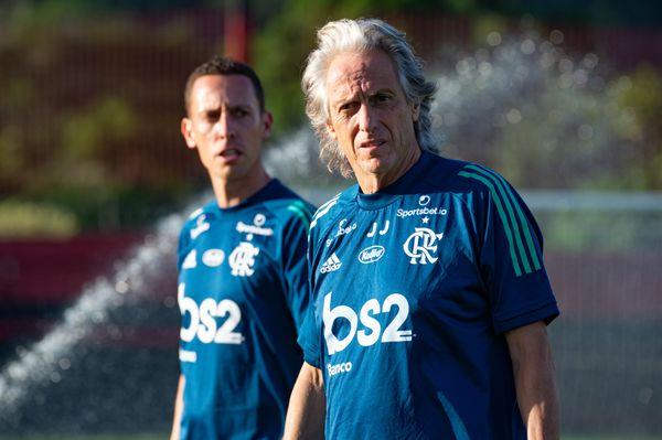 Jorge Jesus, manifestou vontade em permanecer no Flamengo. Crédito: Alexandre Vidal/Flamengo
