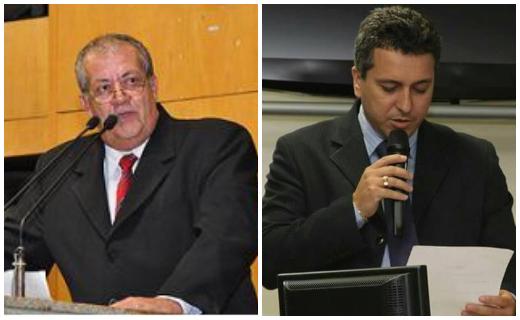 Vereador da Serra, Wanildo Sarnaglia, e ex-vereador Marcos Tongo. Crédito: Repodução/Facebook