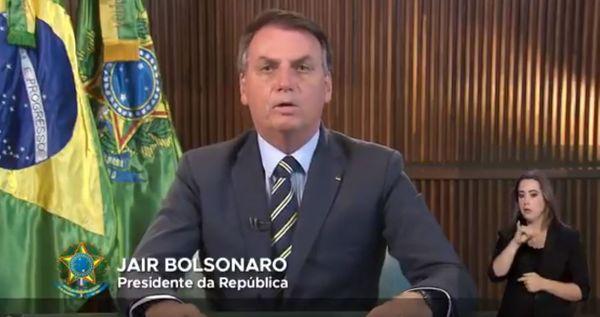 Bolsonaro fez pronunciamento na TV sobre o novo coronavírus nesta quinta (12)