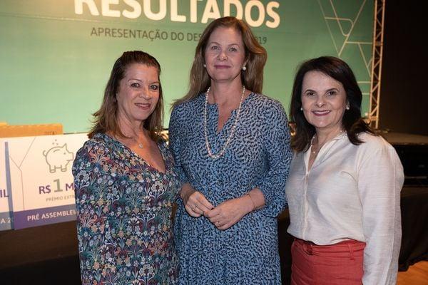 Eliane Zandonadi, Sandra Kwak e Tânia Torres: mulheres do cooperativismo. Crédito: Cacá Lima