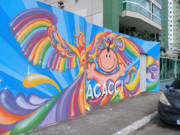 Muro artístico da Acacci. Crédito: Divulgação