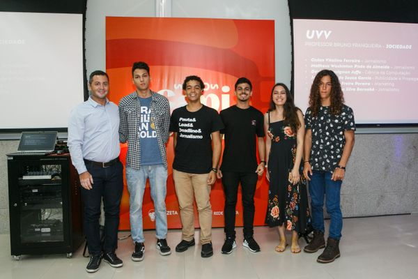 Professor e alunos da UVV participaram da produção do minidocumentário. Crédito: Adessandro Reis