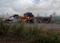 Carreta de celulose pega fogo em Aracruz. Crédito: Mara Arantes