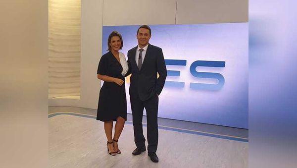 Tatiane Braga e Mario Bonella comandam o Bom Dia diariamente na TV Gazeta. Crédito: Reprodução | TV Gazeta