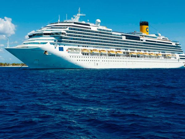 Costa Favolosa: navio italiano fez um cruzeiro no Caribe, 40 capixabas participaram. Crédito: Divulgação