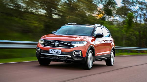 Volkswagen T-Cross assumiu em fevereiro a liderança de vendas no segmento. Crédito: Volkswagen/Divulgação