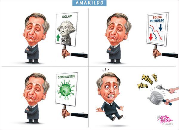 Confira a charge do Amarildo de 19/03/2020. Crédito: Amarildo