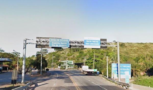 Divisa do Espírito Santo com o Estado do Rio de Janeiro na BR 101 Sul