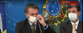 18/03/2020 - Presidente Jair Bolsonaro e o ministro da saúde Luiz Henrique Mandetta em entrevista coletiva sobre ações do governo devido ao coronavírus