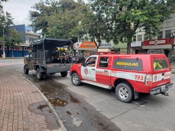 Exército e Bombeiros vão às ruas para orientar população sobre coronavírus. Crédito: Governo do ES