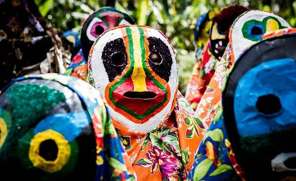 Carnaval de Congo de Máscaras em Roda d'Água, Cariacica. Crédito: Lucas Calazans/flickr