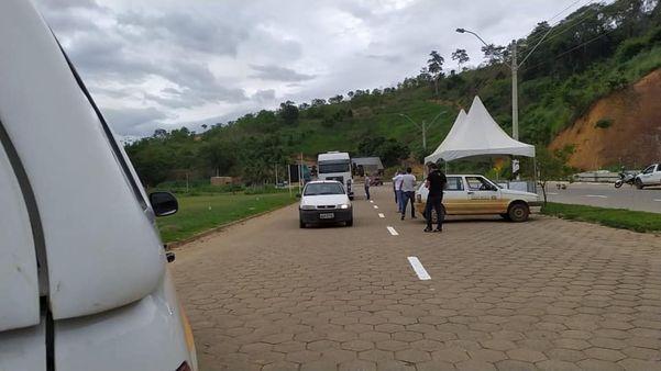 Fiscalização na entrada de Marilândia. Crédito: Prefeitura de Marilândia