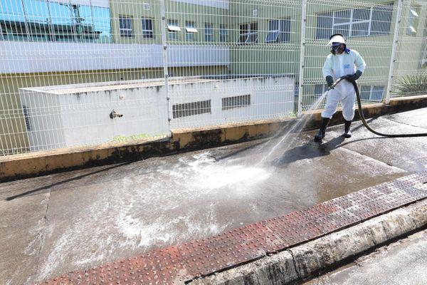 Cariacica inicia lavagem especial de ruas para combater a disseminação do Coronavírus